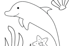 Free Preschool Dolphin Coloring Worksheet