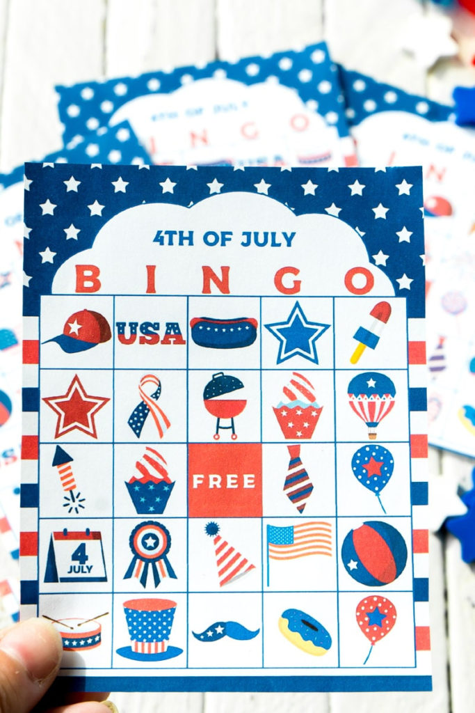Free Printable 4th Of July Bingo Cards Play Party Plan