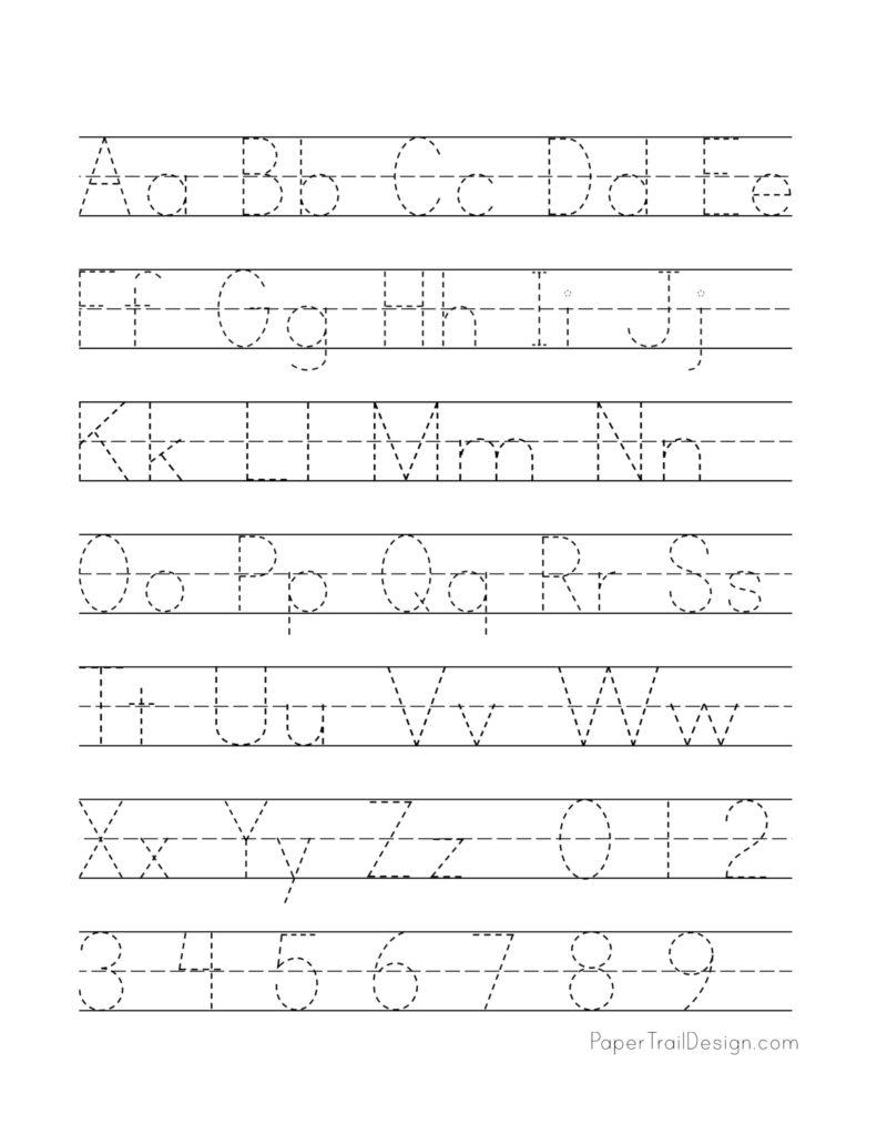 Free Printable Alphabet Handwriting Practice Sheets