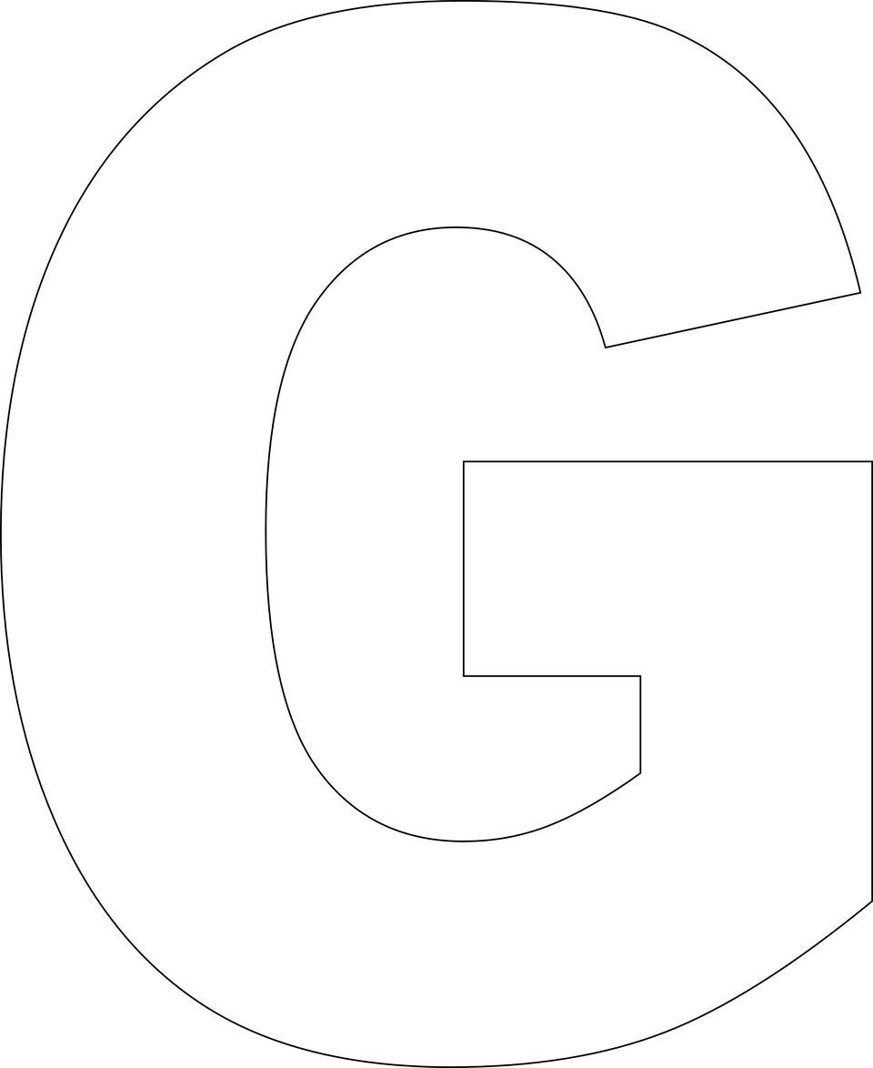 Letter G Template Free Printable
