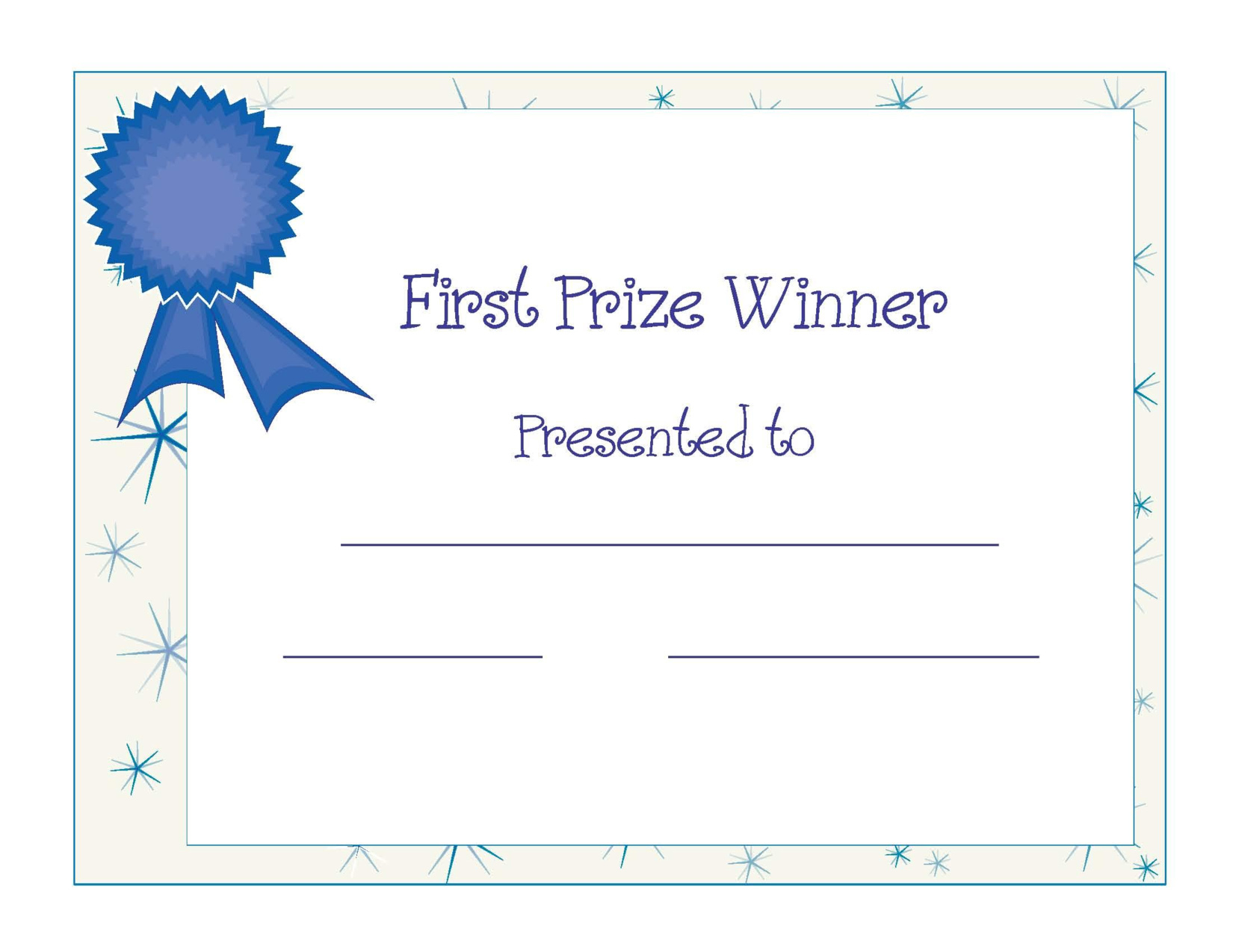 Free Printable Award Certificates
