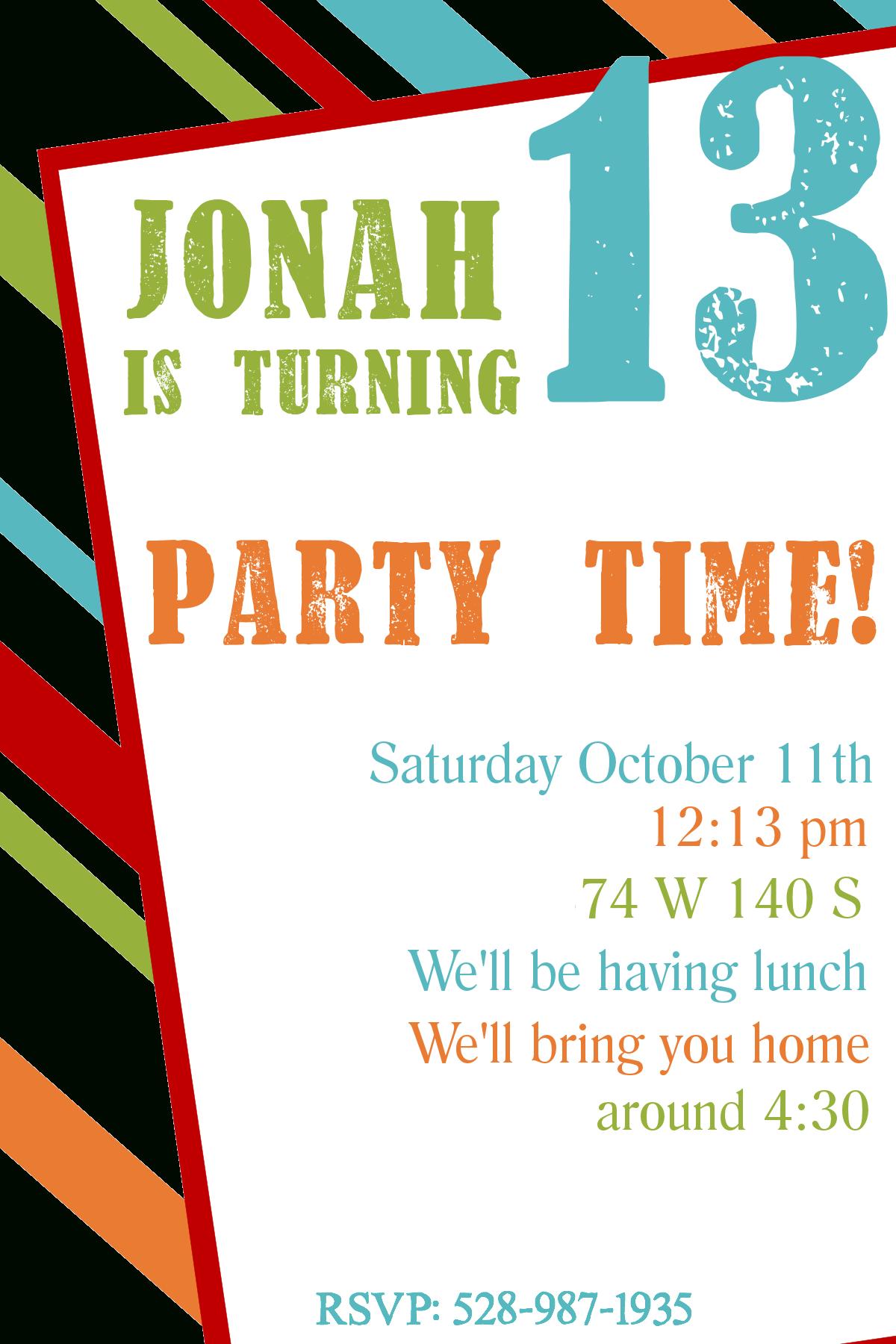 Free Printable Invitations Birthday