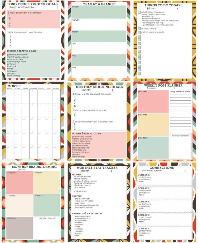 Free Printable Blog Planner Living Well Spending Less