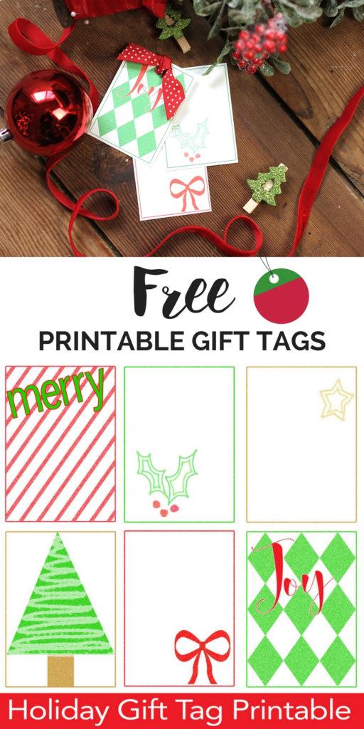 FREE Printable Christmas Gift Tags Christmas Gift Tag
