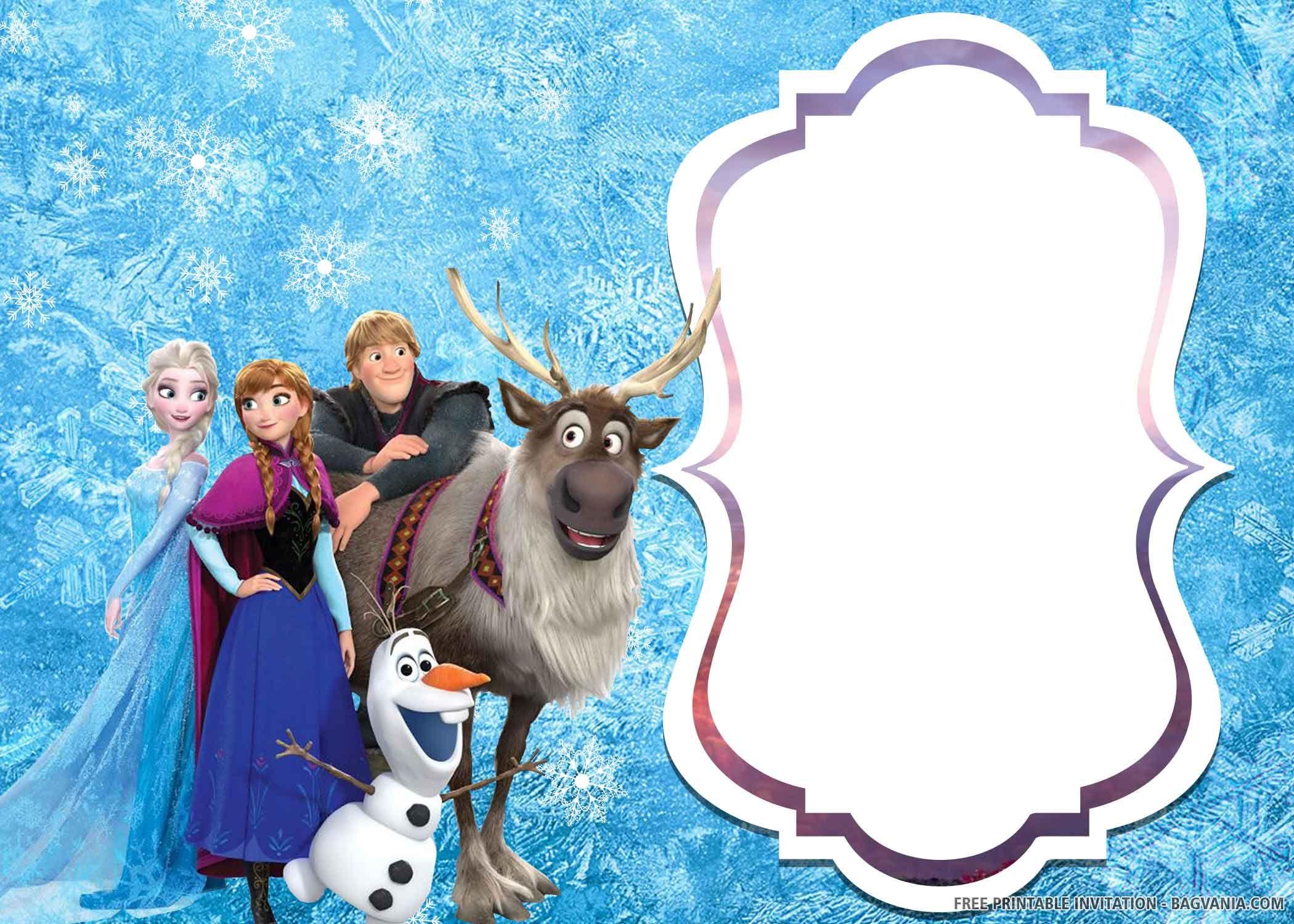 Frozen 2 Free Printable Invitations