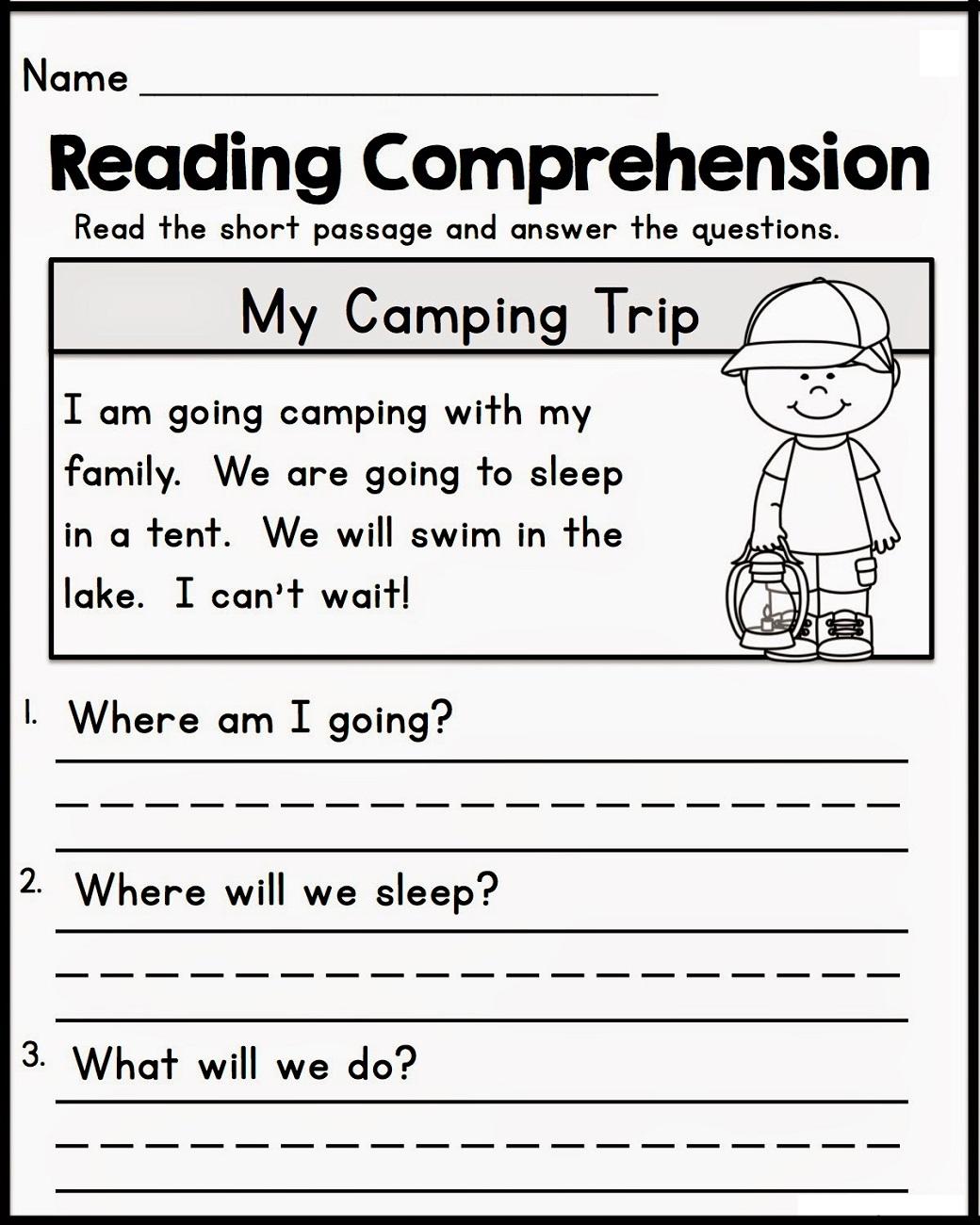 Free Comprehension Worksheets