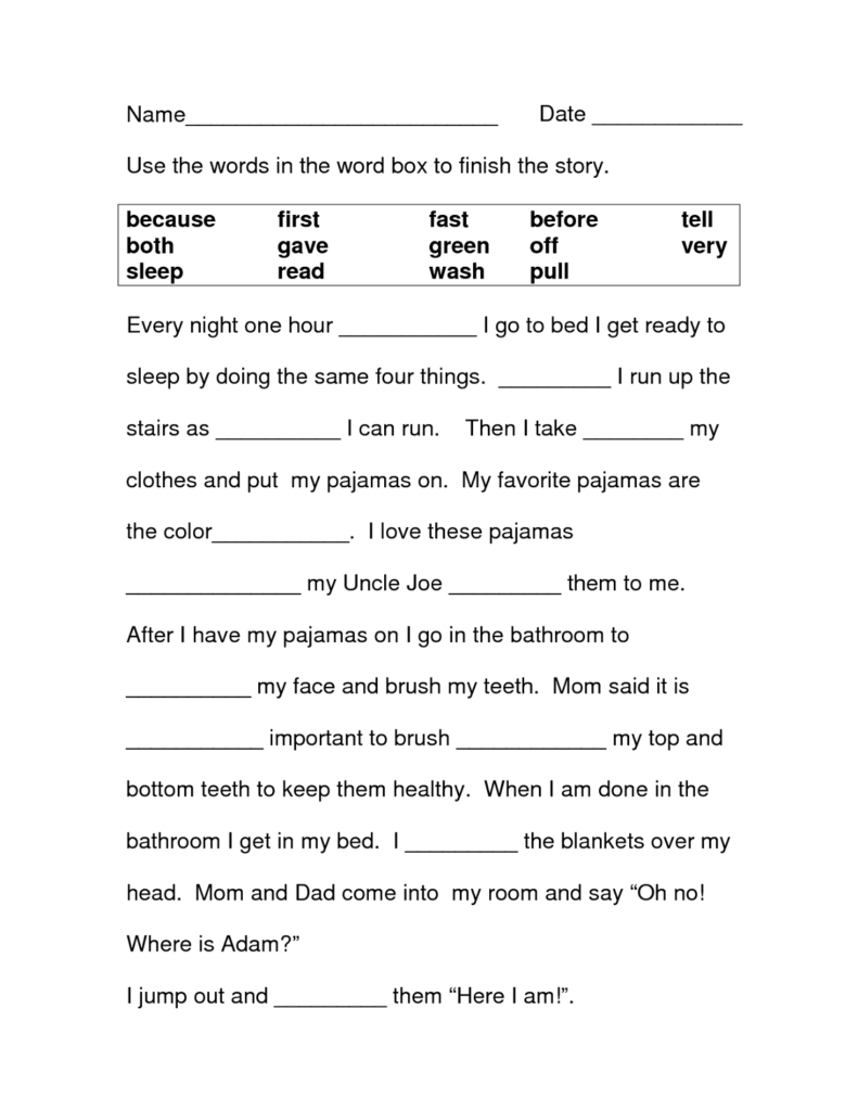 Free Printable Literacy Worksheets Activity Shelter