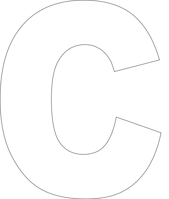 Letter C Template Free Printable