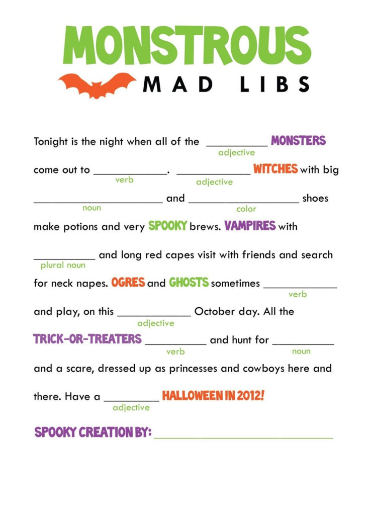 Free Printable Mad Libs For Middle School Students Free