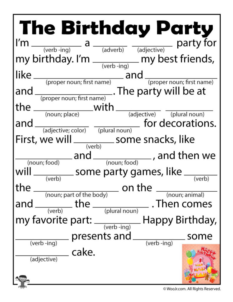 Free Printable Mad Libs For Middle School Students That