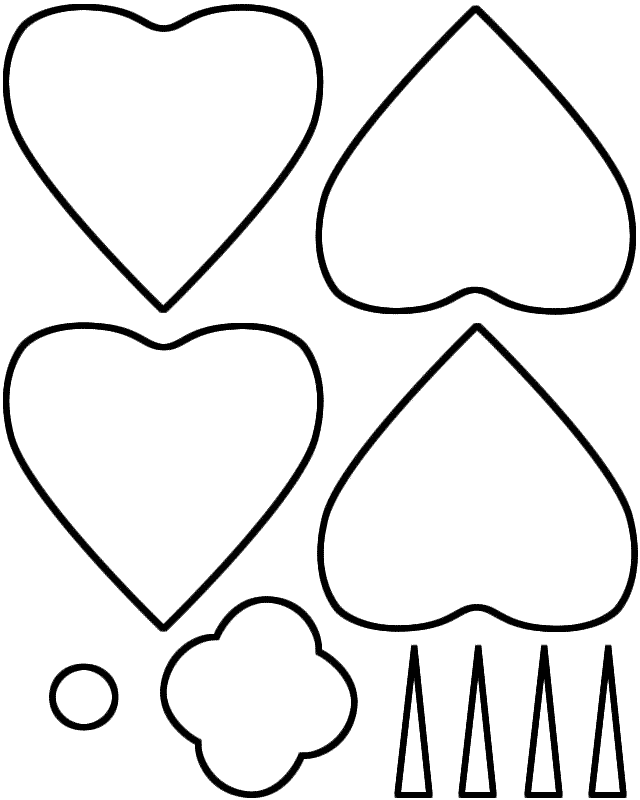 Large Printable Poppy Template