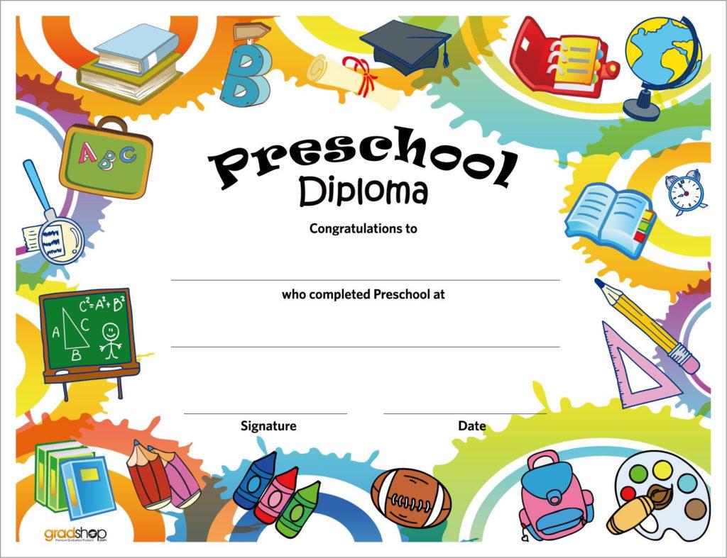 Free Printable Preschool Diplomas In 2020 Preschool