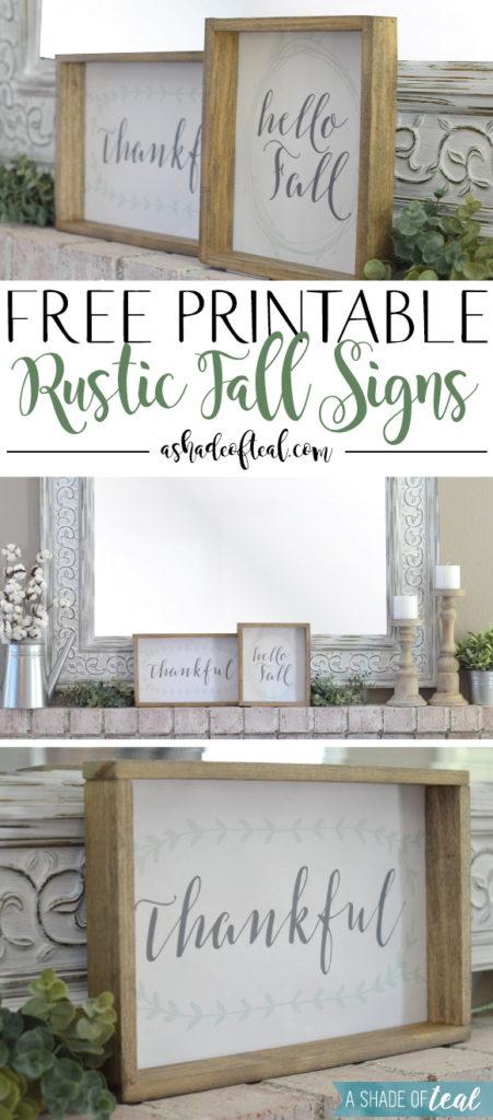 Free Printable Rustic Fall Signs