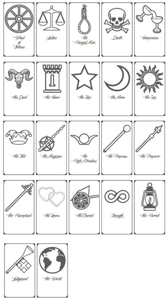 FREE Printable Tarot Cards By Https Keniakittykat
