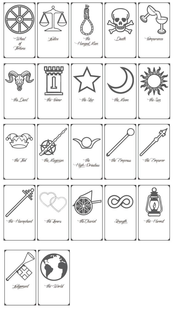 Free Printable Tarot Cards Pdf Printable Cards
