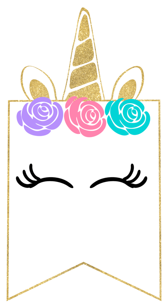 Free Printable Unicorn Decorations Party Banner Paper