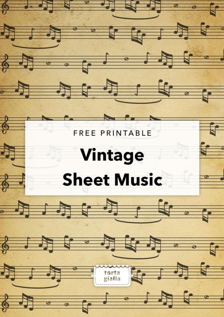 Free Printable Vintage Sheet Music Tortagialla Vintage