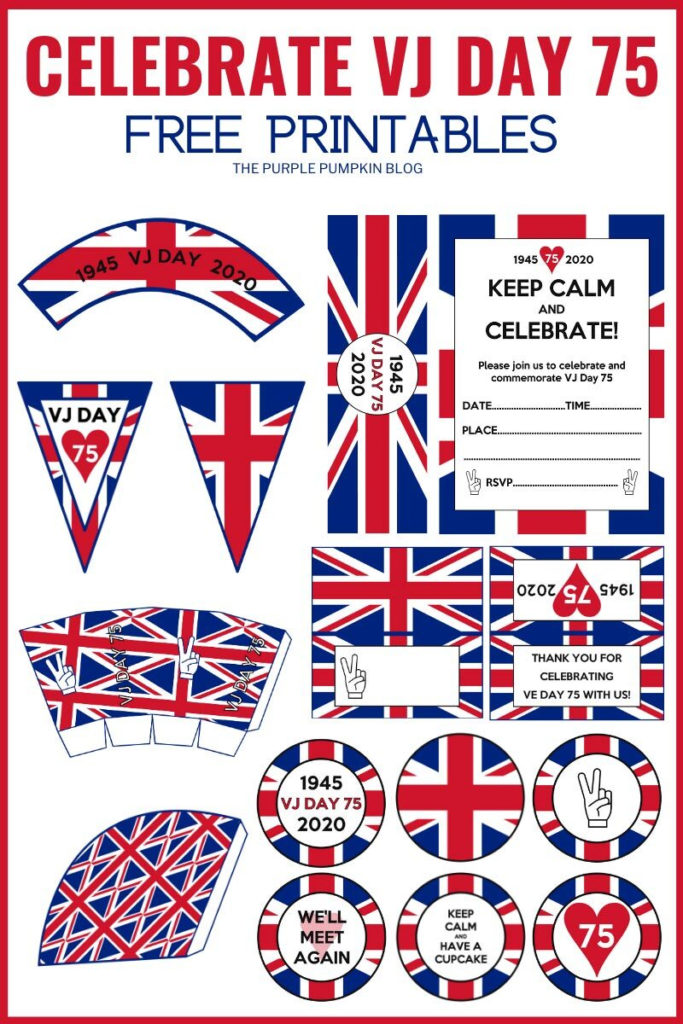Free Printable VJ Day Decorations To Print At Home