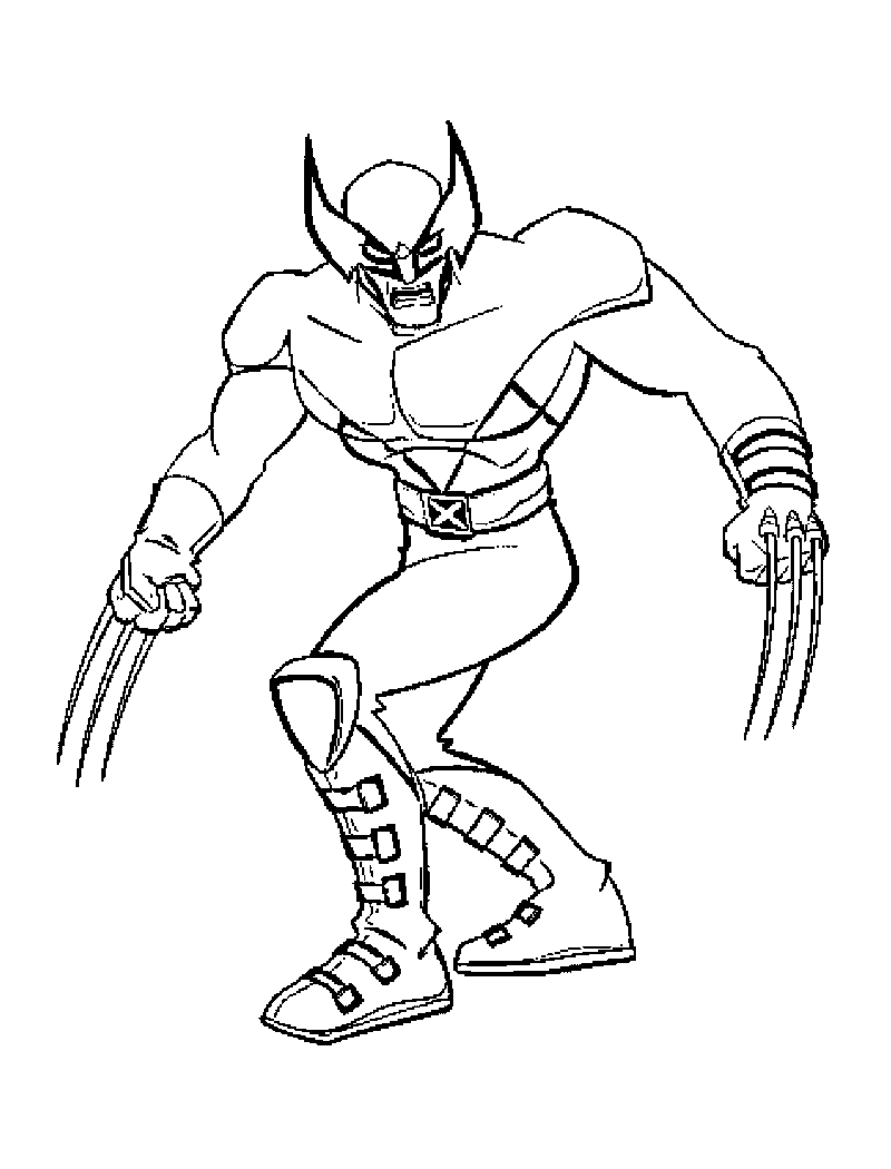 Free Printable X-men Coloring Pages