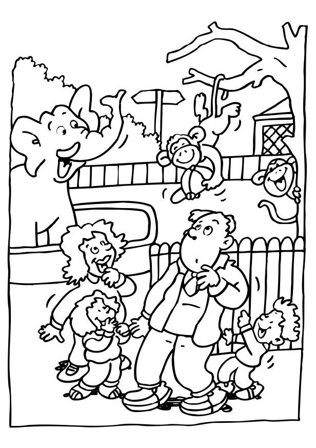 Free Printable Zoo Coloring Pages