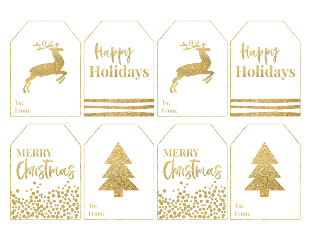 Gold Free Printable Christmas To From Tags Paper Trail