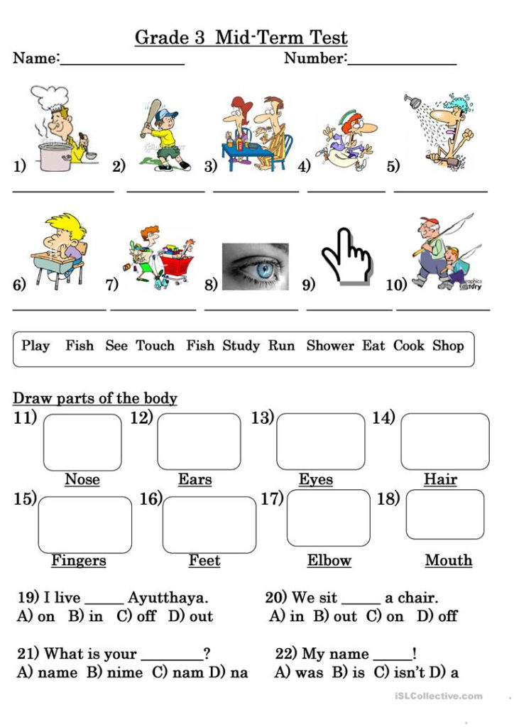 Grade 3 Test Worksheet Free ESL Printable Worksheets
