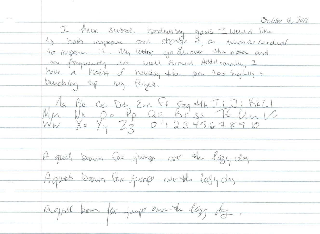 Handwriting Improvement Worksheets