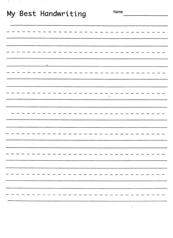 Free Handwriting Practice Sheets