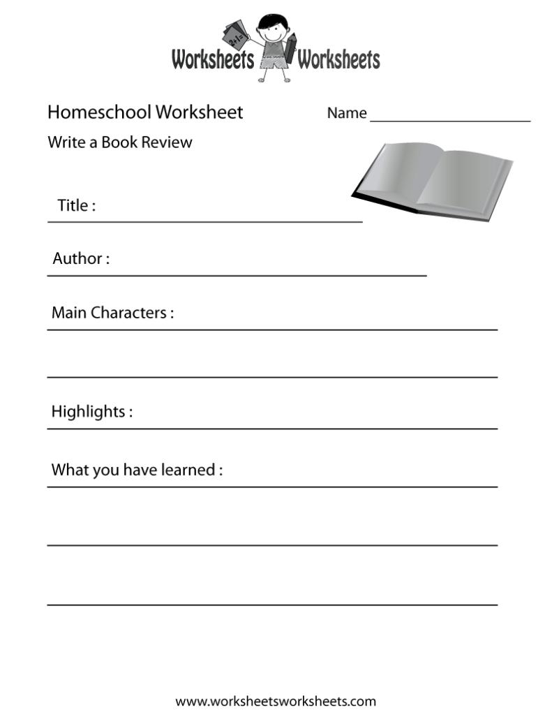 Homeschool English Worksheet Free Printable Educational