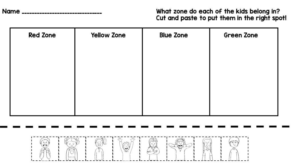 Image Result For Zones Of Regulation Worksheet Zones Of