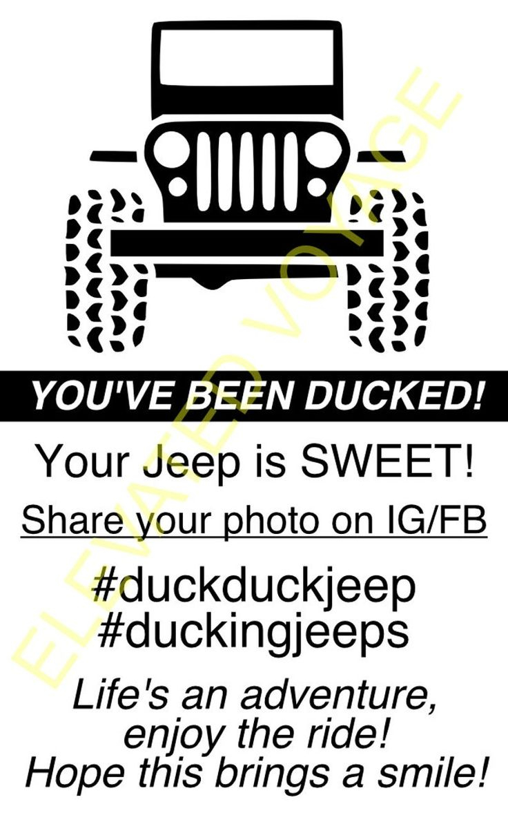 Free Printable Jeep Duck Tags