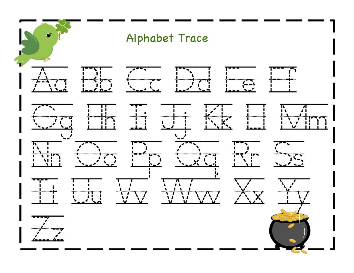 Alphabet Worksheets For Kindergarten