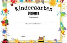 Kindergarten Diploma Free Printable Kindergarten