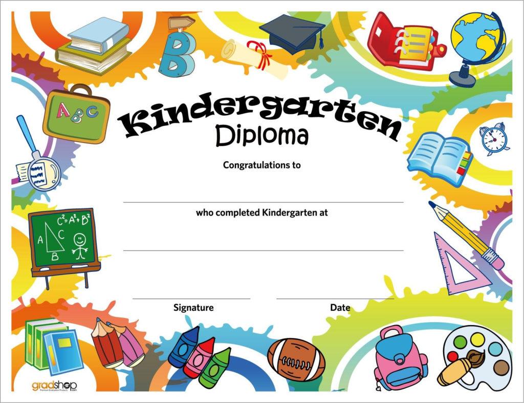 Kindergarten Diploma Preschool Diploma Graduation