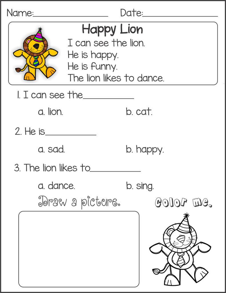 Kindergarten English Worksheets Best Coloring Pages For Kids