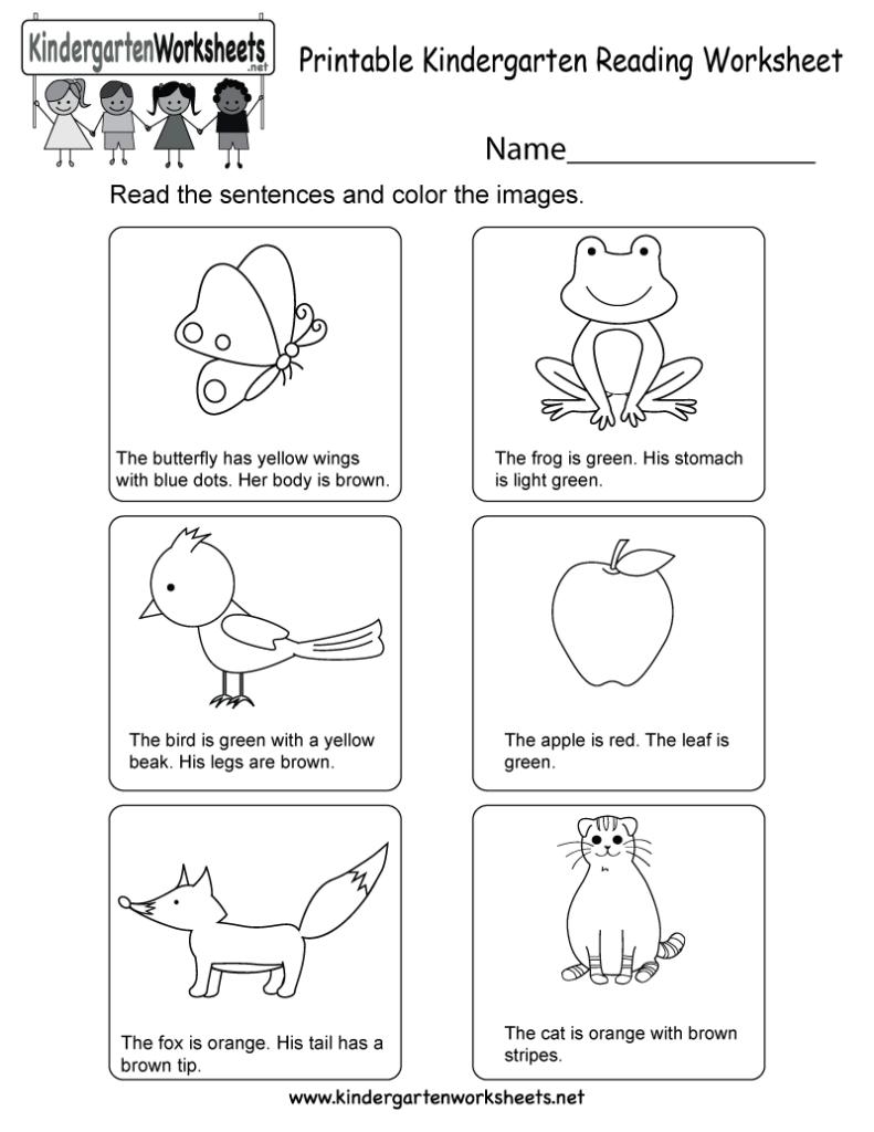Kindergarten Reading Comprehension Pdf Worksheets Free