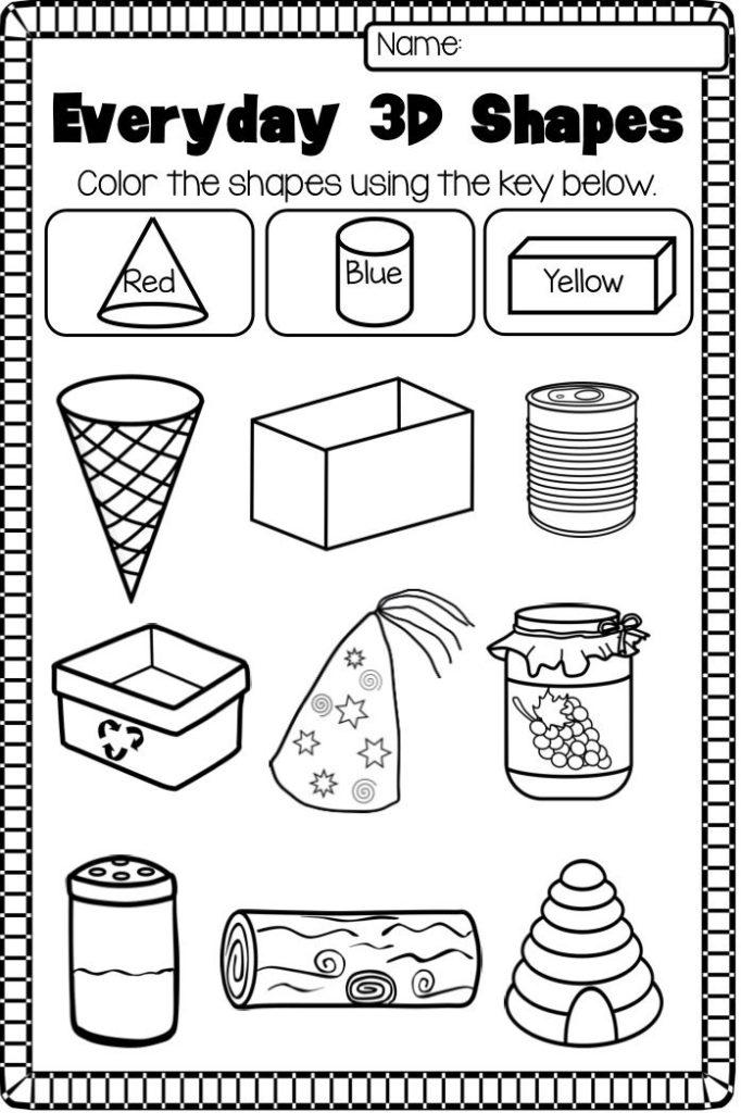Kindergarten Worksheets Best Coloring Pages For Kids