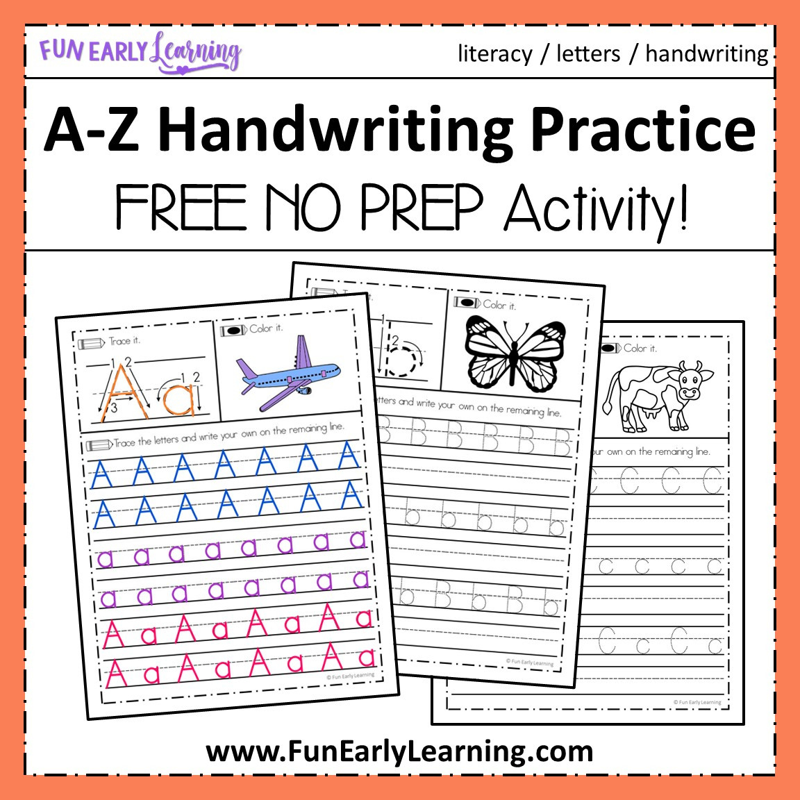 Learning A-z Free Printables