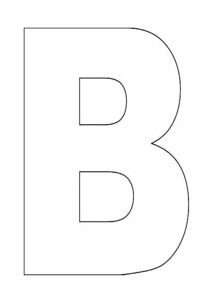 Letter B Printable Beautiful Alphabet Letter B Template