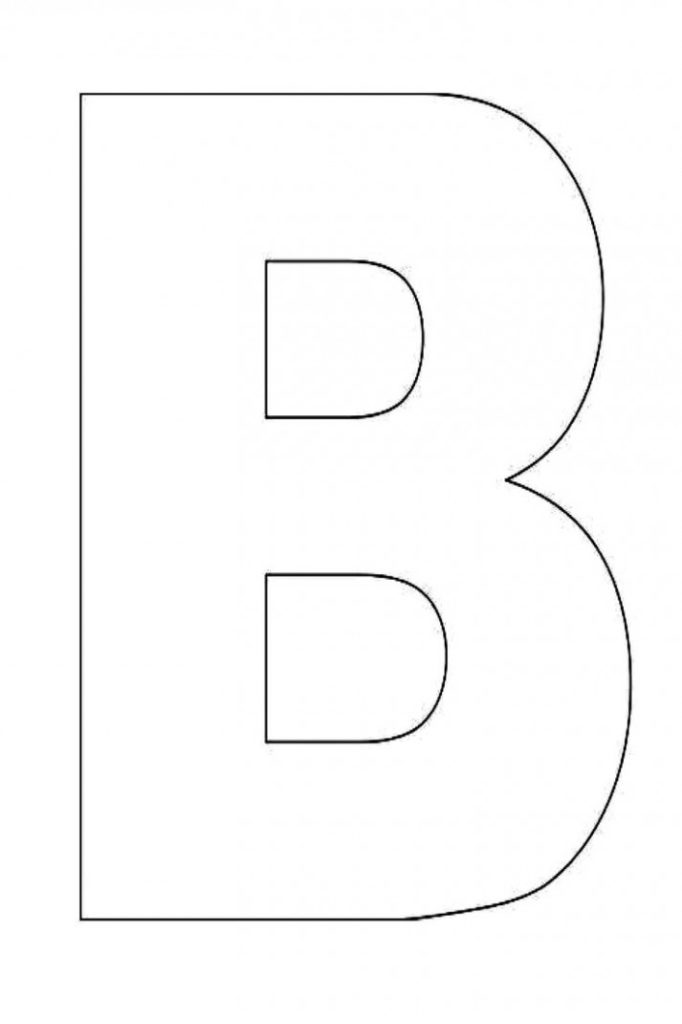 Letter B Template Free Printable This Is How Letter B