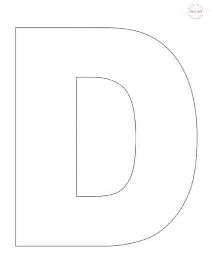 Letter D Free Printable