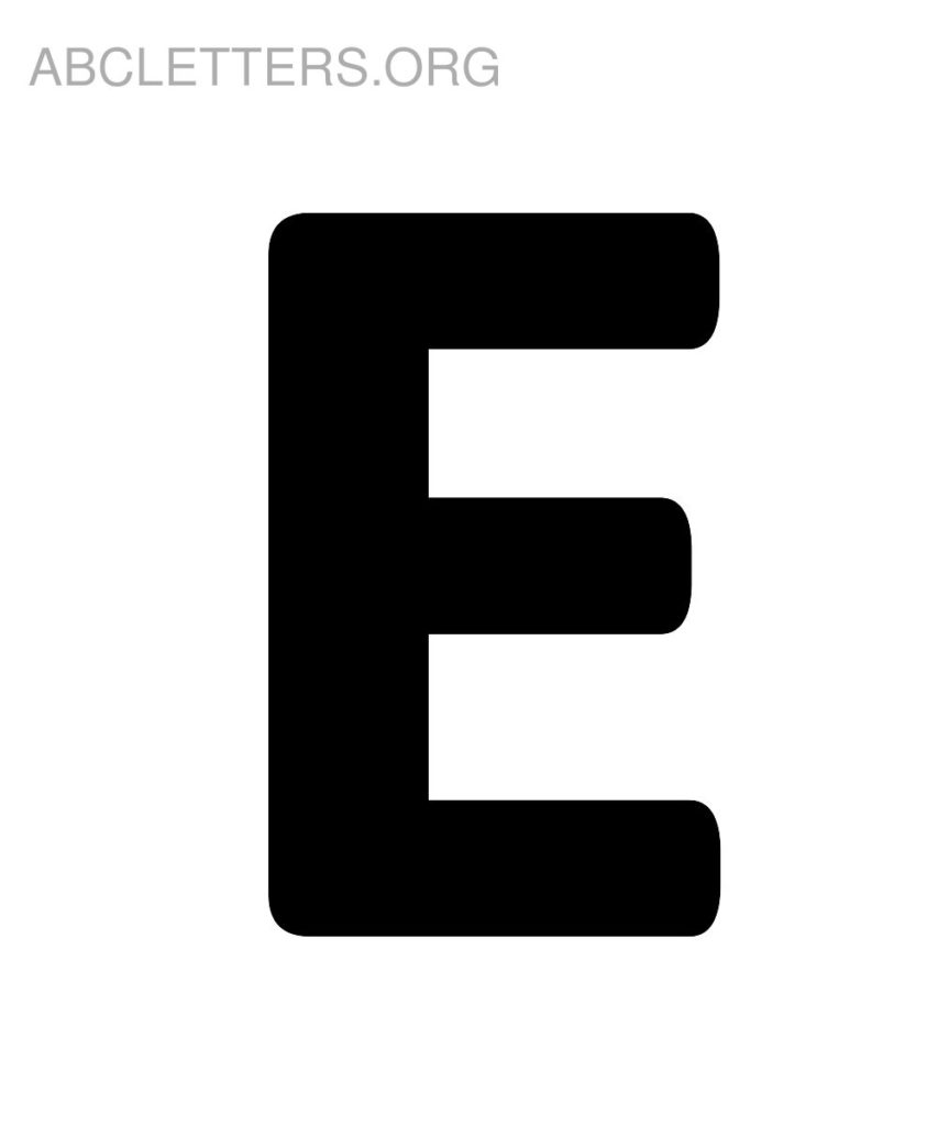 Letter E Printable PrintableTemplates