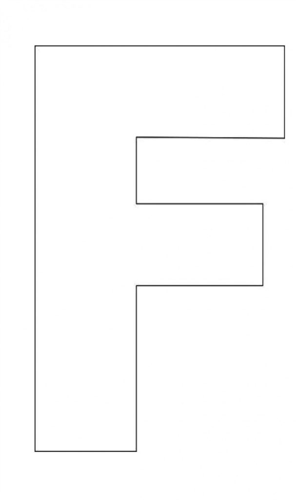 Letter F Template Free You Will Never Believe These