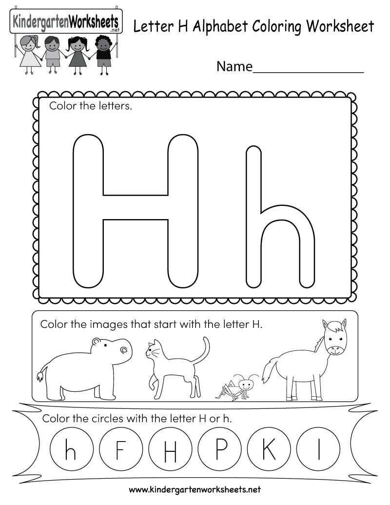 Letter H Free Printable Worksheets