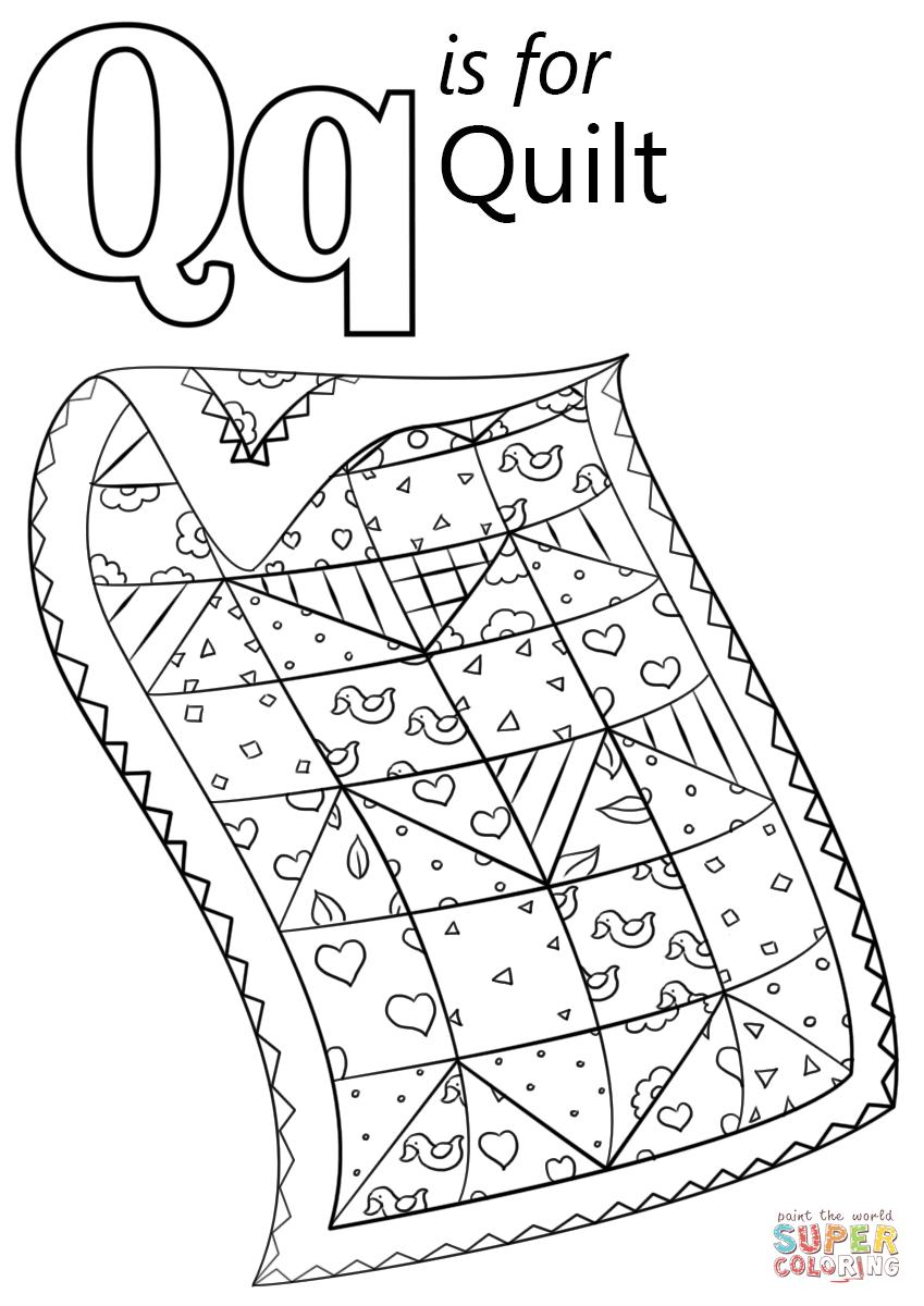 Letter Q Free Printable