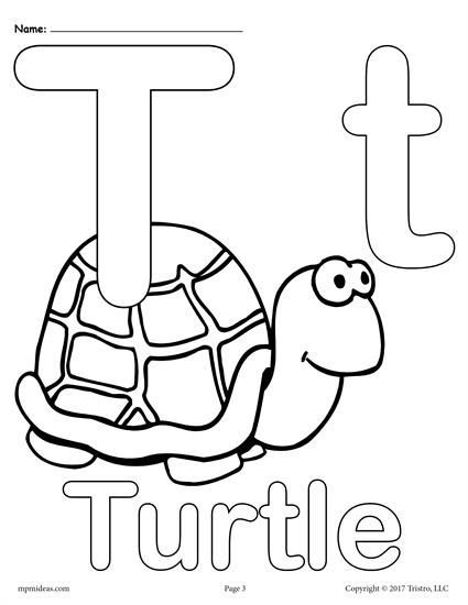 Letter T Free Printable