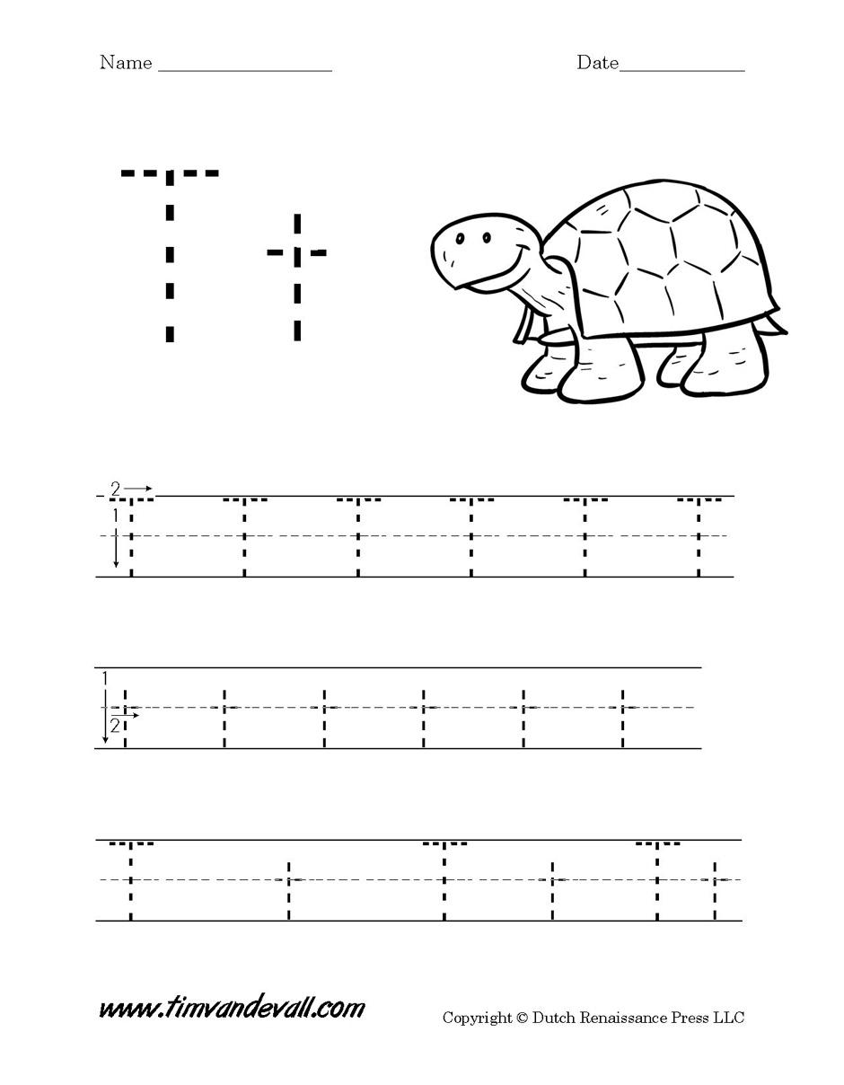 Letter T Free Printable Worksheets