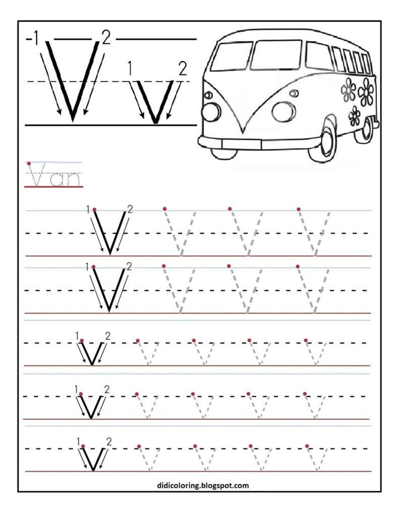 Letter V Worksheets Printable AlphabetWorksheetsFree