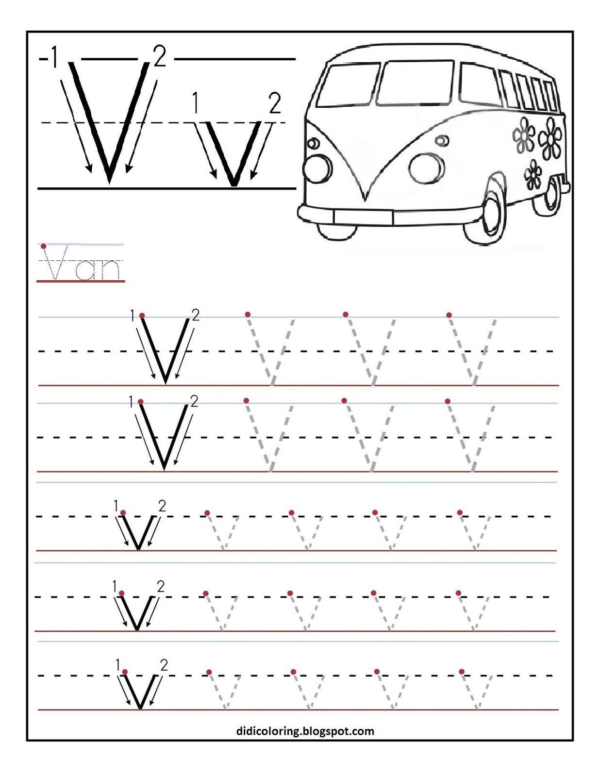 Letter V Free Printables