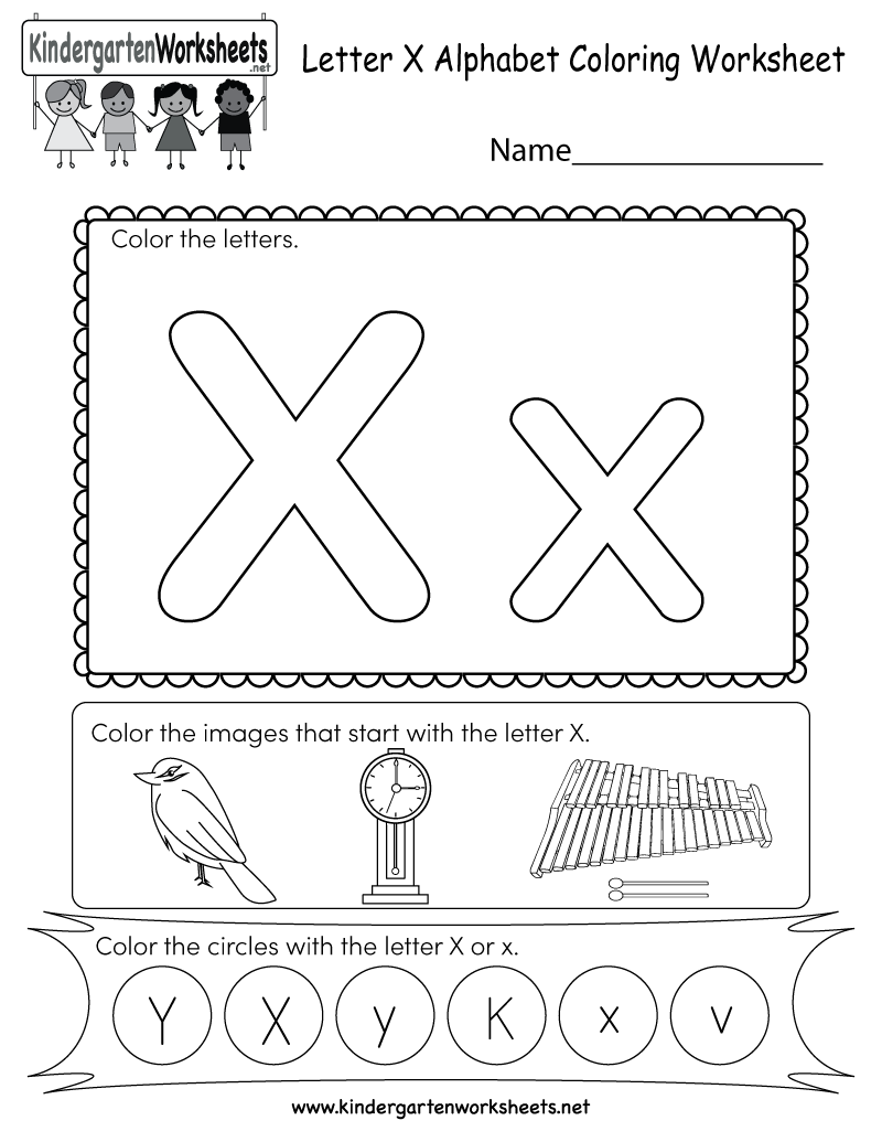 Letter X Free Printable Worksheets